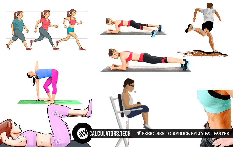 7 Exercises To Reduce Belly Fat Faster